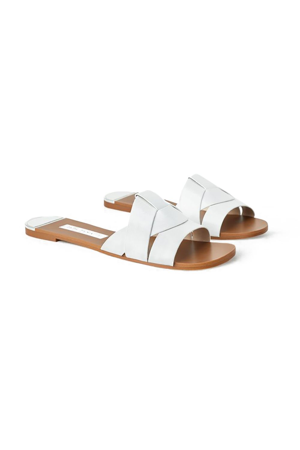 Poolside Flats Zara, $46 SHOP IT A pair of new sandals for spring is a must. These are not only super easy to slip on, they come in four different color options.