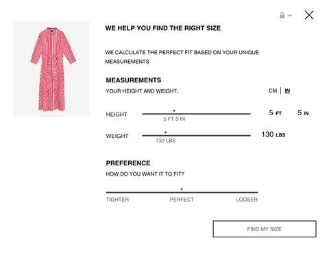 575460a8 Zara Secret Online Shopping Trick - Zara Tailor Size Feature Online
