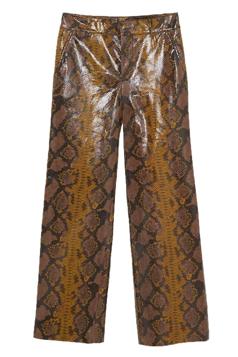 Snake Print Trousers