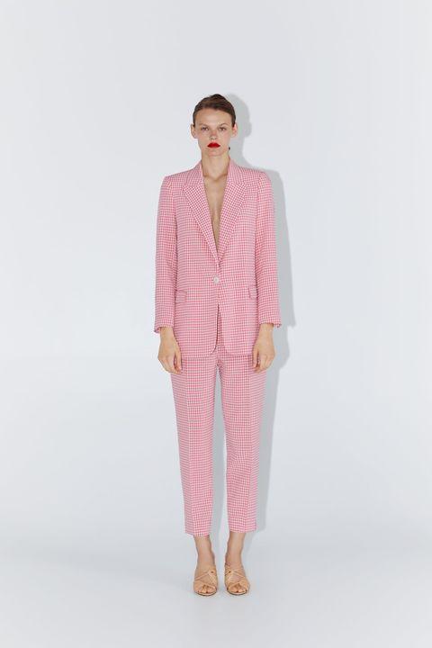 moderno y elegante en moda compra especial clásico Zara vuelve a lanzar el traje de vichy rosa viral de la ...