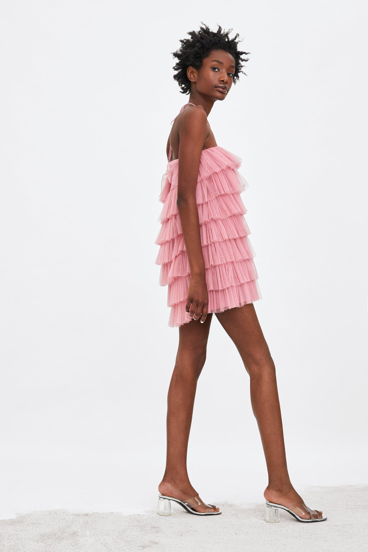 44a31a74d Falda Tul Fiesta Zara | Wig Elegance