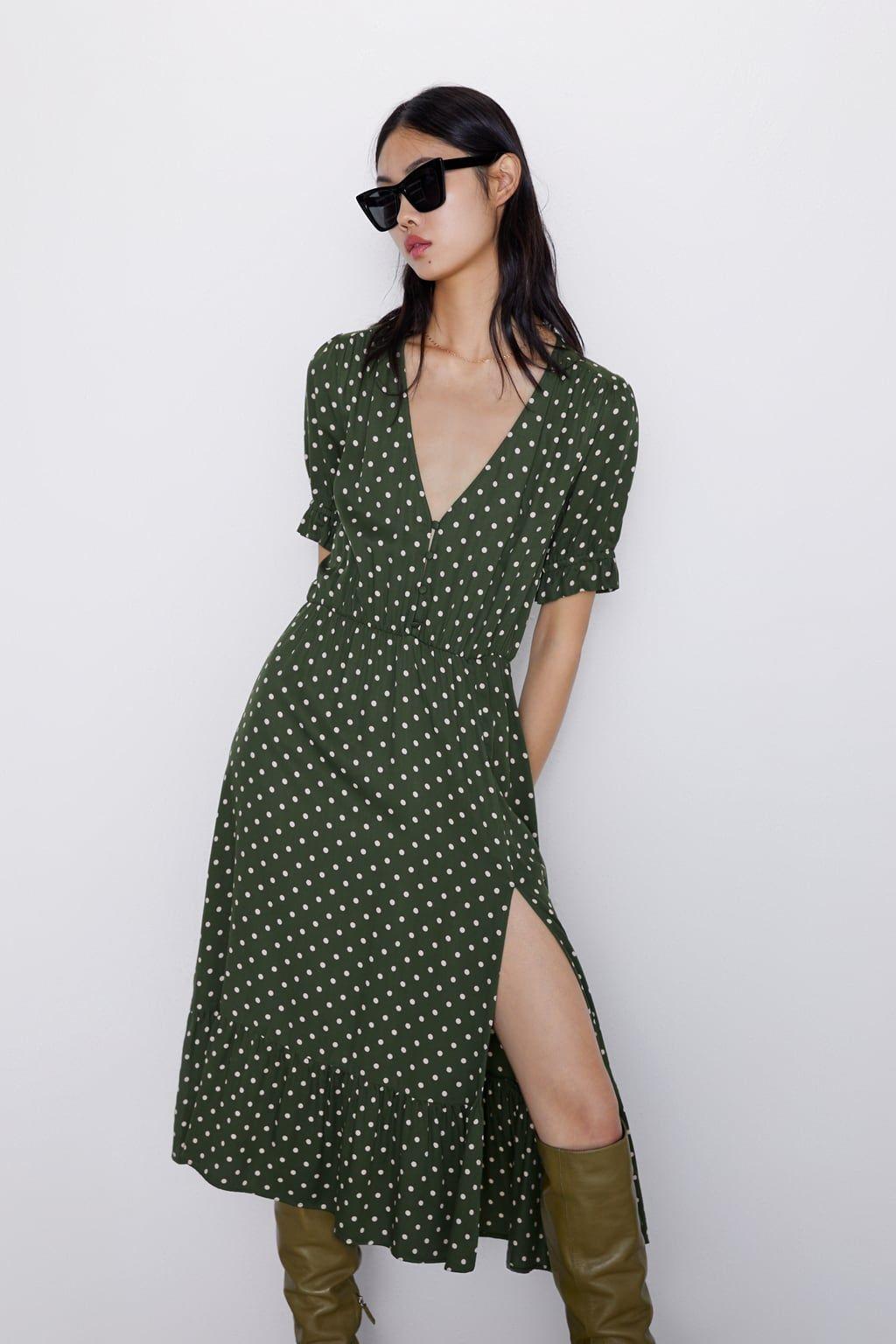 estilos de moda rendimiento superior variedad de diseños y colores El vestido de lunares que Zara no se cansa de versionar