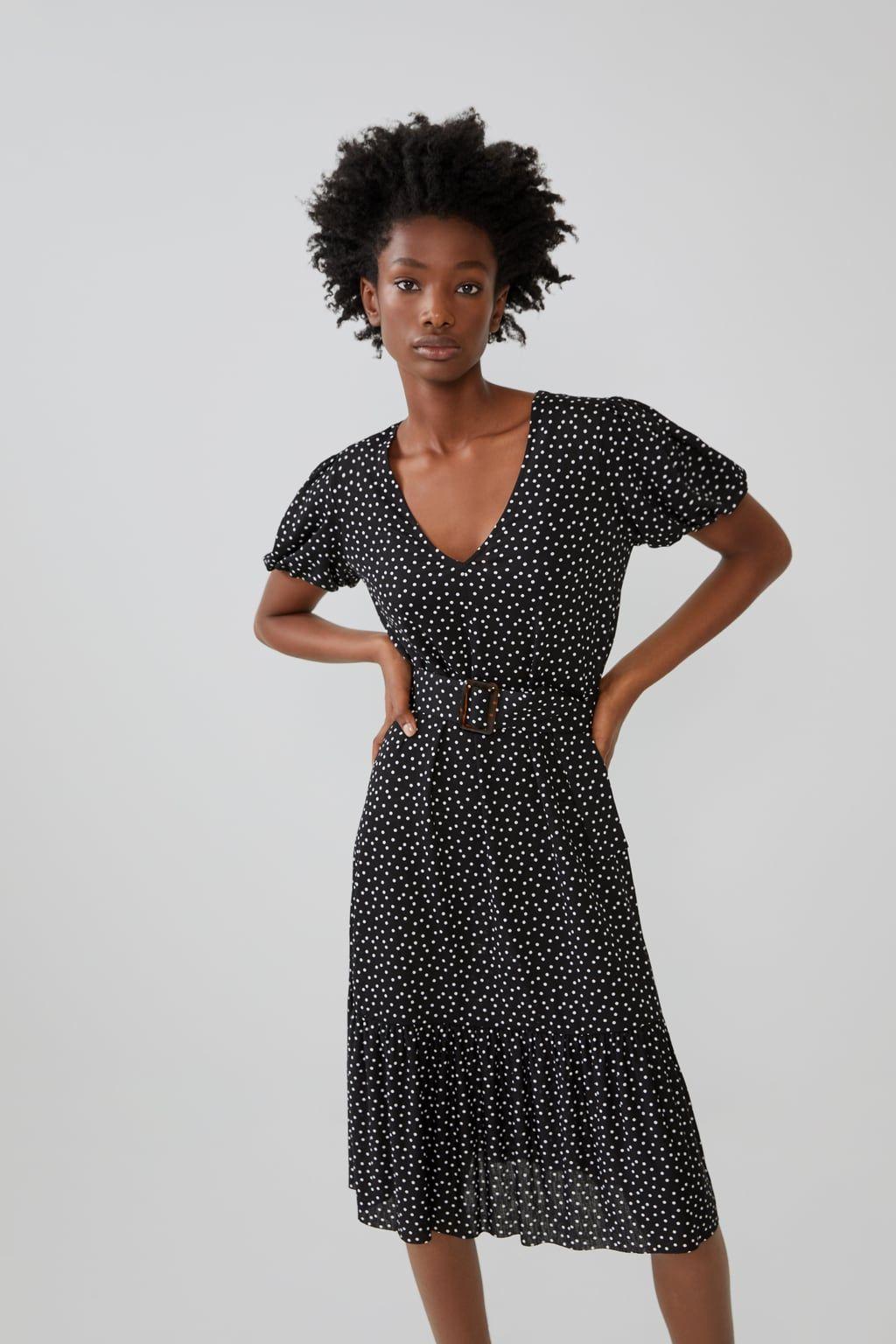 diseño distintivo elige el más nuevo seleccione para auténtico El vestido midi de lunares de Zara por 20 € que es increíble