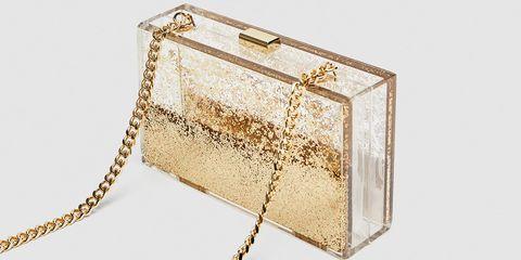 Handbag, Bag, Chain, Fashion accessory, Beige, Rectangle, Wallet, Coin purse, Brass, Metal,