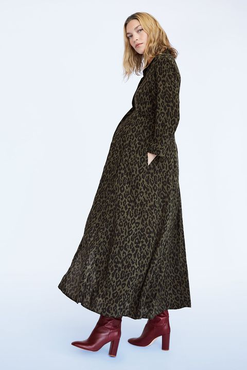 Clothing, Outerwear, Dress, Coat, Fashion, Overcoat, Sleeve, Neck, Duster, Fur,