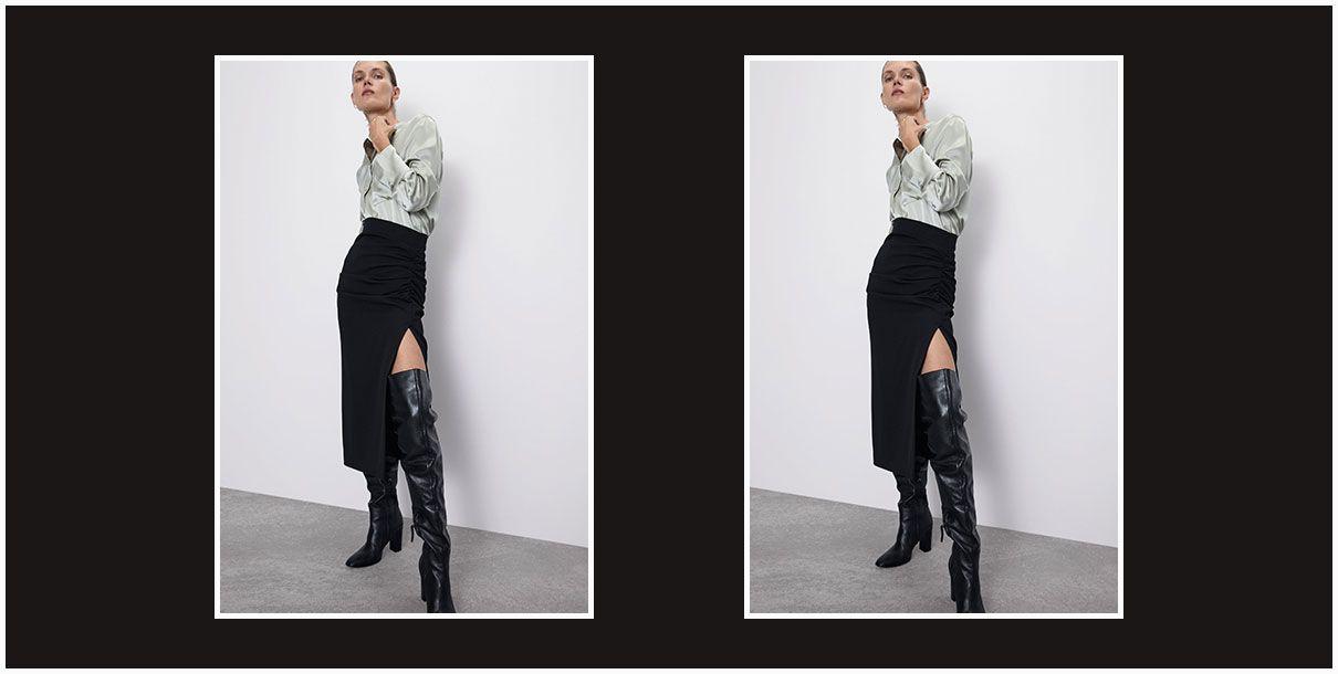 La falda negra de Zara que vas a usar cada mañana