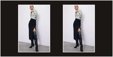 Clothing, Black, Fashion, Shoulder, Dress, Leg, Footwear, Fashion model, Knee, Joint,