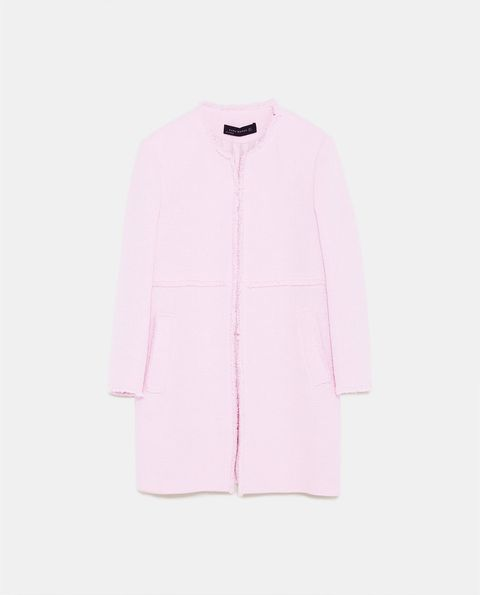 Clothing, Pink, Outerwear, White, Sleeve, Cardigan, Sweater, Jacket, Fur, Top,