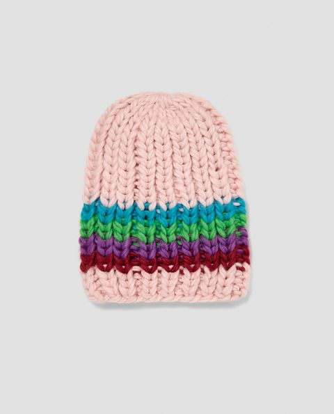 Knit cap, Beanie, Woolen, Clothing, Cap, Crochet, Wool, Pink, Turquoise, Bonnet,