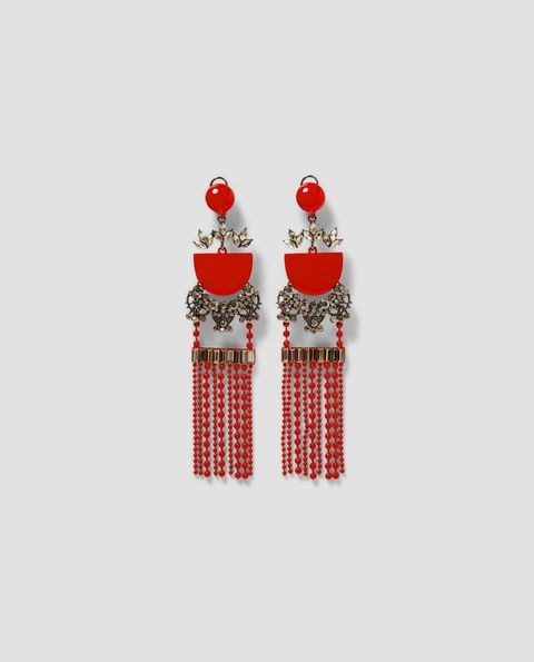 Red, Earrings, Fashion accessory, Jewellery,