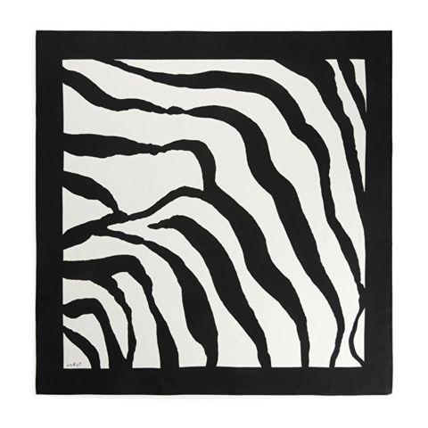 haarsjaaltje met zebra design van arket