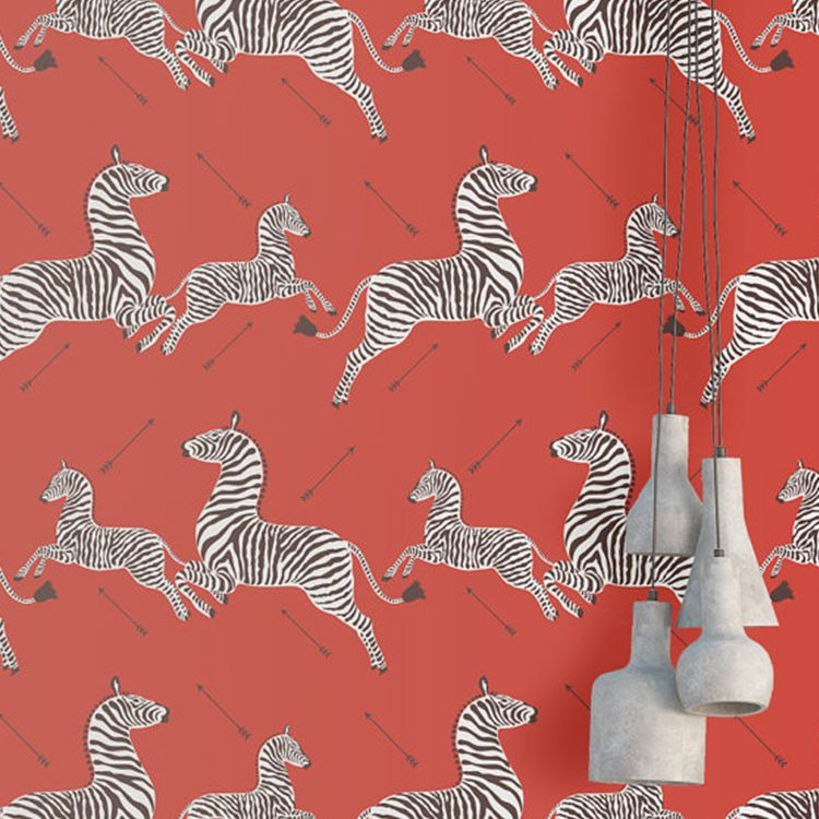 Red Zebra Wallpaper