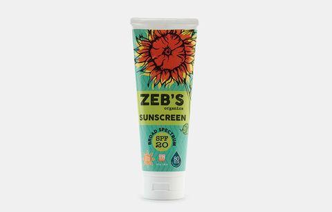 Zeb's organics sunscreen.