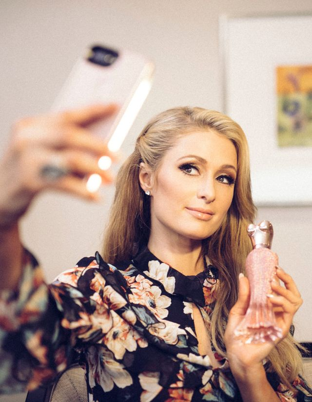 sydney, australia   november 30  editors note this image has been digitally altered paris hilton poses for a selfie during a promotion visit to australia to launch her 23rd fragrance, rosé rush on november 30, 2017 in sydney, australia  photo by cole bennettsgetty images for paris hilton