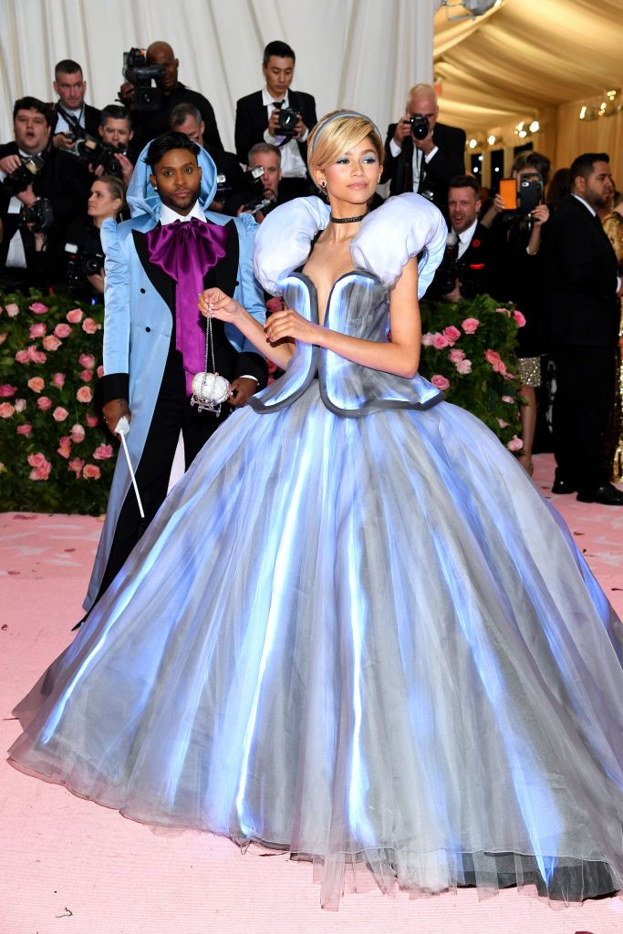 Zendaya Is Cinderella—Complete with Fairy Godmother and Light-Up Ball Gown—at the Met