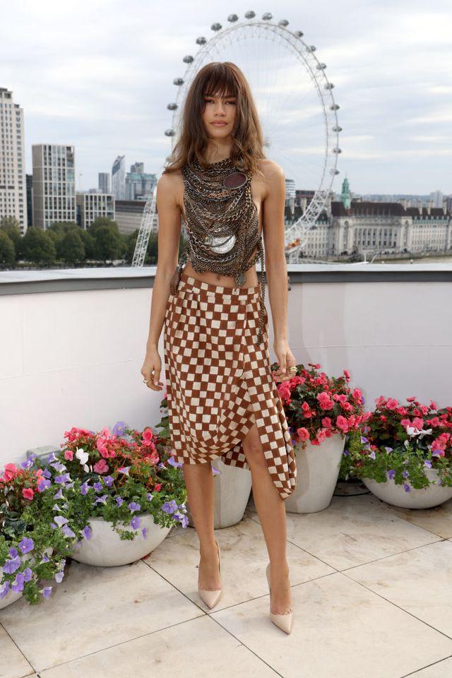 Zendaya Wears Corseted Chain Harness For 'Dune' Photocall In London