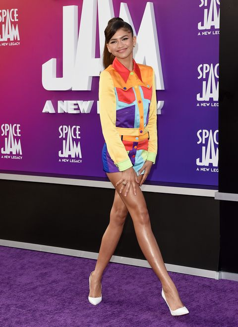 zendaya at the premiere of warner bros space jam a new legacy