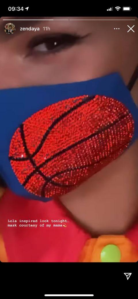 zendaya in her basketball mask