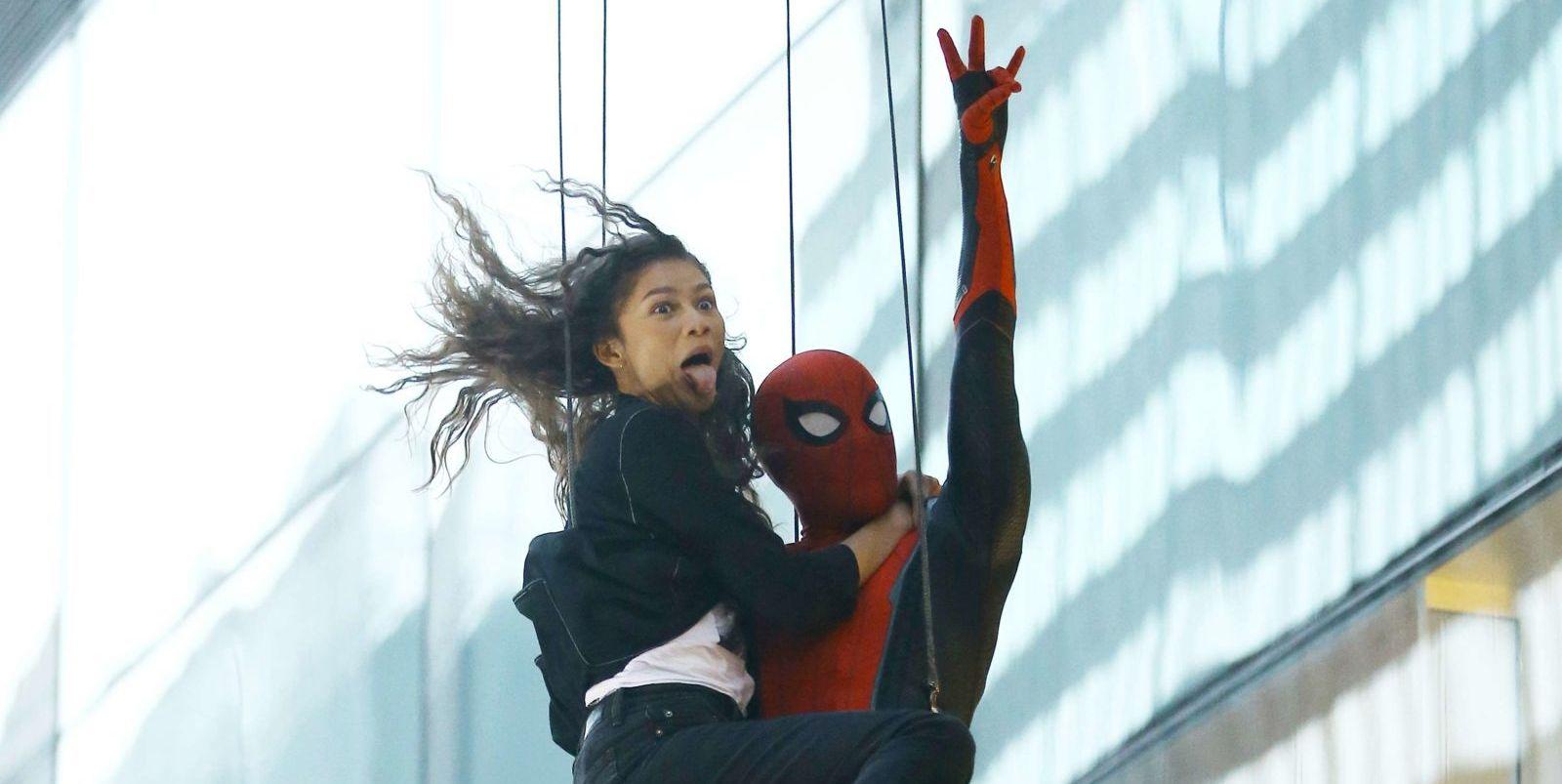 Spider Man Lejos de casa rodaje con Zendaya