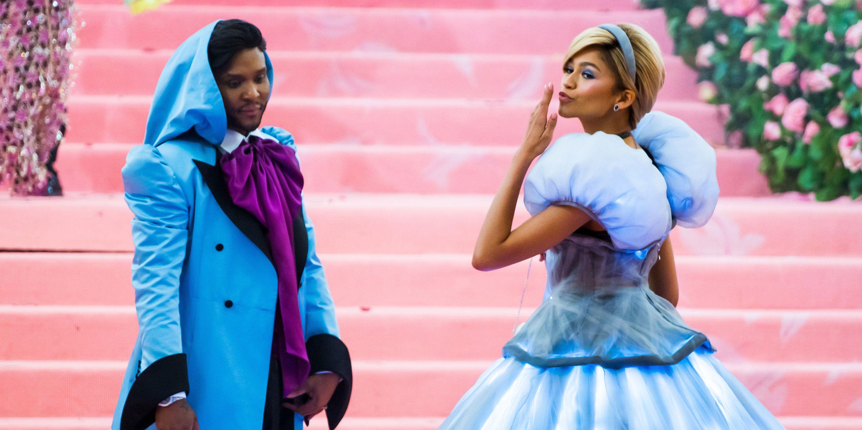 Zendaya dressed as Cinderella at the 2019 Met Gala