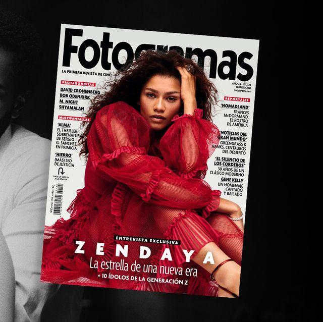"zendaya en la portada de ""fotogramas"" de febrero de 2021"