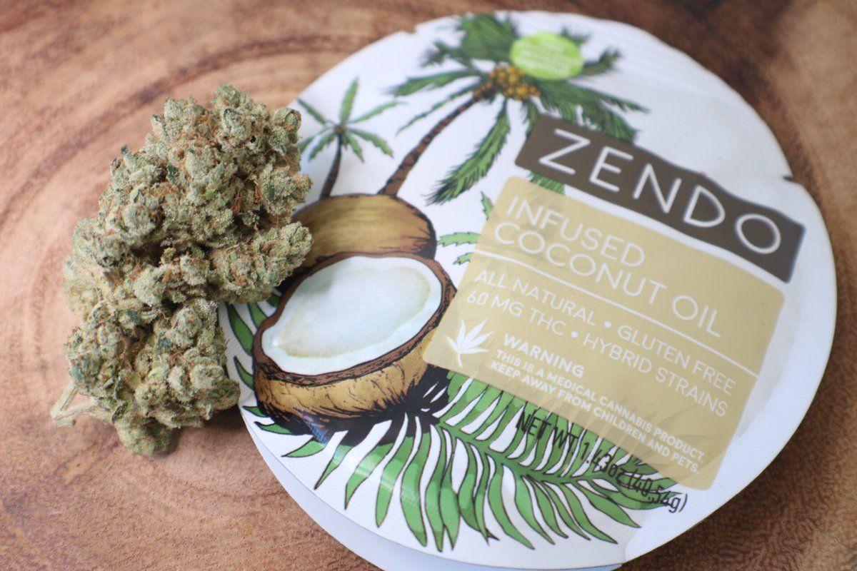 Zendo pure infused coconut oil