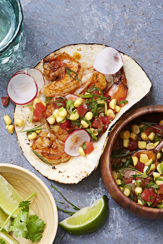 zesty shrimp tacos