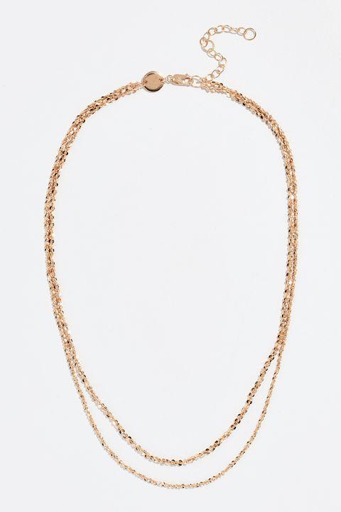 jennifer zeuner jewelry 金色雙層項鍊