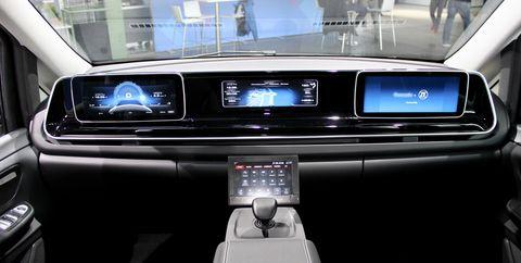Land vehicle, Vehicle, Car, Family car, Automotive design, Mid-size car, Center console, Minivan, Mitsubishi,