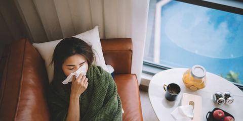ziek in winter