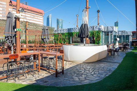 terraza del restaurante zielou, madrid