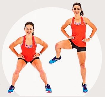 Physical fitness, Arm, Leg, Cycling shorts, Thigh, Shoulder, Sportswear, Joint, Lunge, Human leg,