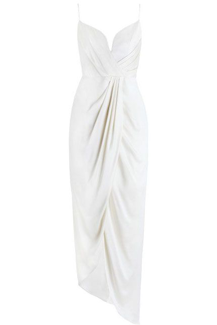 Dress, White, Clothing, Cocktail dress, Day dress, Gown, Strapless dress, Satin, Formal wear, Silk,