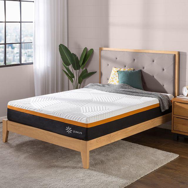 cooling copper adaptive memory foam icoil hybrid mattress from zinus
