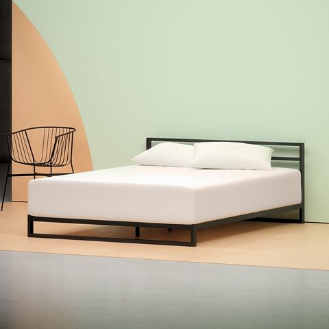 Bed, Furniture, Bedroom, Bed frame, Mattress, Bed sheet, Room, Box-spring, Comfort, Interior design,