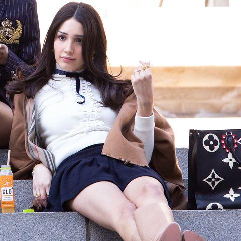 zion moreno sur le tournage de Gossip Girl
