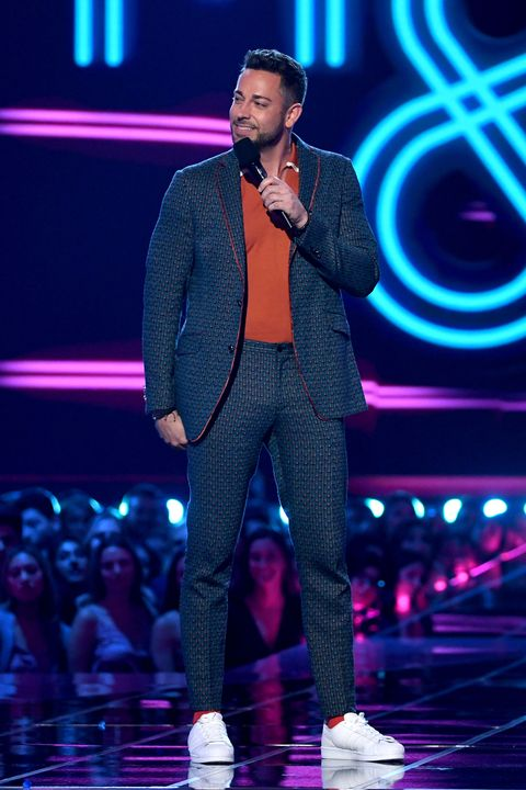 Zachary Levi in Etro at the MTV Movie & TV Awards.