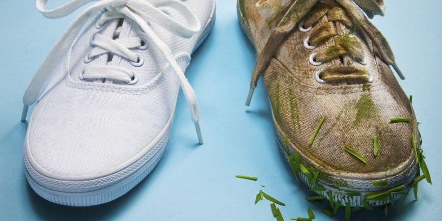 Zo krijg je je witte sneakers weer helemaal wit