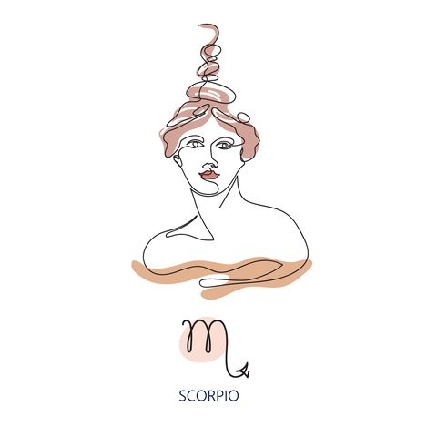 zodiac sign scorpio the symbol of the astrological horoscope