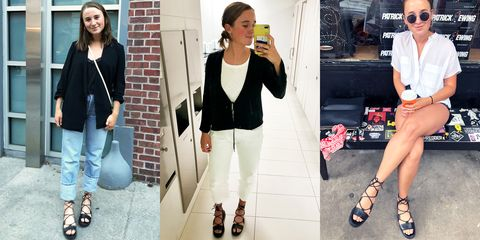 Clothing, White, Jeans, Blazer, Footwear, Street fashion, Fashion, Outerwear, Shoe, Jacket,