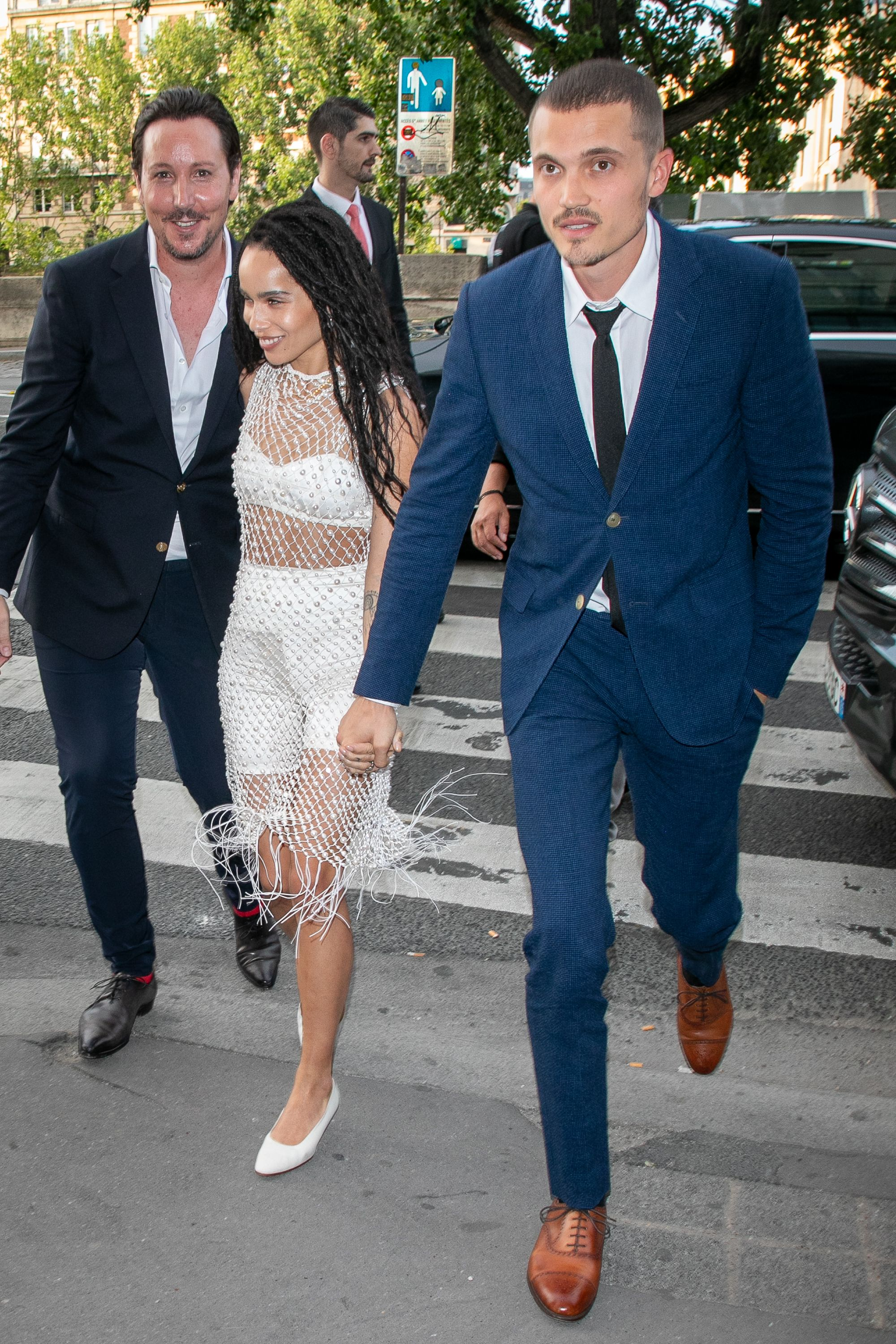 Zoe Kravitz Wears Danielle Frankel At Wedding Rehearsal Dinner