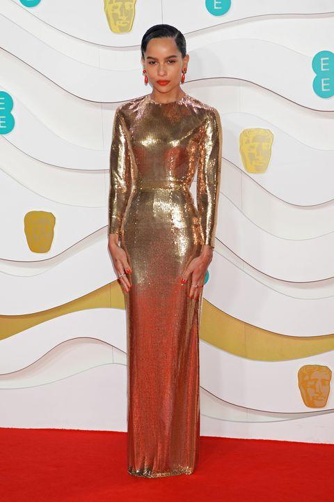 第73回英国アカデミー賞(BAFTA2020)のレッドカーペット速報、ゾーイ・クラヴィッツ