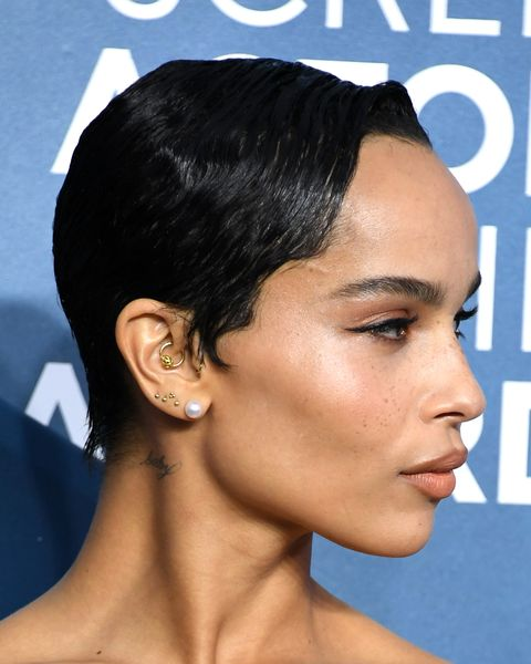 los angeles, california   january 19 zoë kravitz attends the 26th annual screen actors guild awards at the shrine auditorium on january 19, 2020 in los angeles, california photo by jon kopaloffgetty images