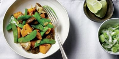 Zoete aardappel roerbak