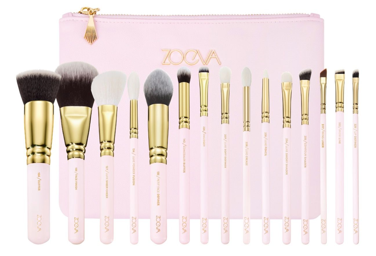 Best makeup brushes - Zoeva Pink Makeup Brush Kit
