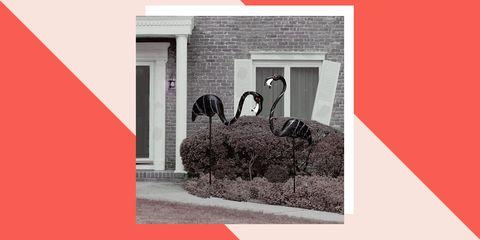 zombie flamingo lawn decorations