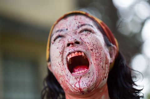 Face, Facial expression, Zombie, Head, Mouth, Skin, Nose, Flesh, Shout, Jaw,