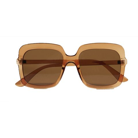 zonnebril met transparant montuur
