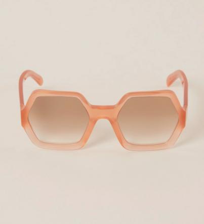vierkante zonnebril celine in roze