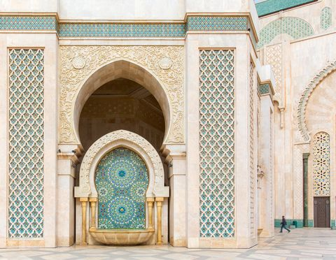 Arch, Blue, Architecture, Holy places, Mosque, Khanqah, Turquoise, Building, Wall, Facade,